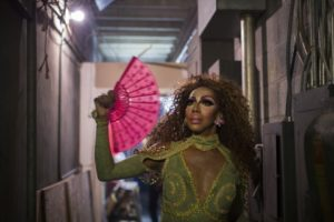 Malaysia Ravor-Black, 38, before her performance at WonderLust, in Jackson, Miss. She has been a drag queen for 20 years. (Annie Flanagan/For The Washington Post)